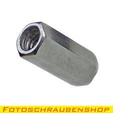 """1x ¼""""-Edelstahl-Verlängerungsmuttern (Adapter Zoll-Zoll, Kupplung 1/4""""-1/4"""")"""