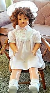 """Rare Vintage Phonograph Composition Doll 30"""" Made by Starr Co. 1928-1930"""