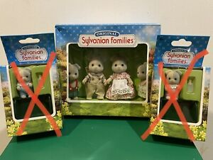 Calico critters Sylvanian Families Vintage Forester Dog family Of 4 New Boxed