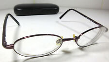 Anne Klein 9034 K1206 Oval Full Frame Plum Purple Eyeglass Frames