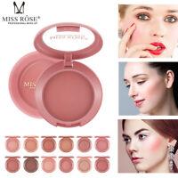 Miss Rose Blusher Long lasting Eyeshadow Powder Face Blush Professional Makeup