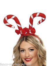 Mesdames Candy Cane Serre-tête Noël Chapeau Costume Robe Fantaisie Accessoire Tête Bande Cheveux