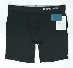 """NEW Mens Tommy John Cool Cotton Relaxed Fit Boxer Brief~Small (28-30"""")~Navy Blue"""