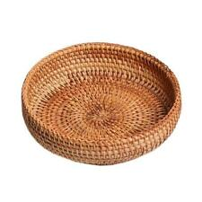 Pure Natural Handmade Rattans Weaving Round Storage Basket Fruit Dish Hand-woven