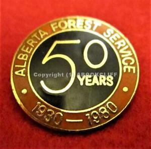 """ALBERTA FOREST SERVICE 50th ANNIVERSARY 1980 CANADA 3/4 """" NM"""