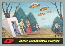 Mars Attacks The Revenge Silver [10] Base Card #31 Secret Underground Bunkers