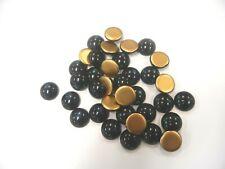 36 preciosa round cabascons,18mm montana/goldfoiled