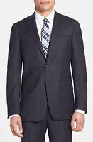 $890 Hart Schaffner Marx Men Classic Wool Gray Suit Jacket Sport Coat Blazer 42s