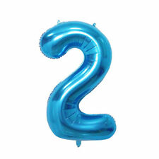 """40"""" Giant Blue Two Year Old Baby First Birthday 2 Month Number Float Balloon USA"""