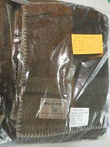 """VINTAGE 2004 Woolrich SALESMAN SAMPLE """"Marsh Creek"""" Throw Blanket 50 x 68 UNUSED"""
