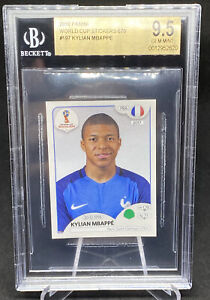 2018 PANINI WORLD CUP KYLIAN MBAPPE ROOKIE STICKER #197 PINK BACK BGS 9.5 FRANCE