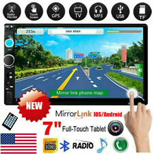 2DIN Bluetooth FM Player Stereo Radio Car 7'' HD MP5 Touch Screen USB SD AUX IN