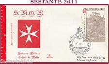 X57 FDC SOVRANO MILITARE ORDINE DI MALTA SMOM S.M.O.M.  ASSEDIO RODI 1980