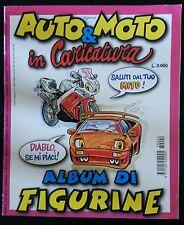 """ALBUM FIGURINE """"AUTO E MOTO IN CARICATURA"""" NON COMPLETO - EDIGAMMA - ANNO 1997"""