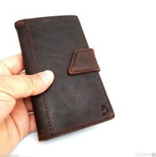 genuine leather Case For Galaxy Note II 2 sony  Xperia Z2 book wallet handmade z