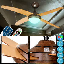 RGB Led Sheet Gold Look Ceiling Vent Lamp Dimmable Fan Remote Control
