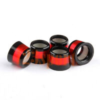 New 12PCS .370 Custom Golf Wood Ferrules Black Red Rings For Iron Wedge Shafts