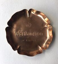 Vintage Copper Worthington Beers Ashtray - British Brewery Bottle