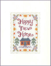 Happy New Home greeting card  - complete cross stitch kit with COLOUR chart