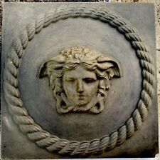 Versace Greek Cherub Rope Concrete Plaque Molds 2pcs