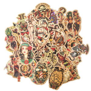 50pcs Sailor Tattoo Decal Vinyl Stickers Sticker Pack Set UK Jerry Traditional