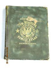 1862 ANTIQUE JOHNSON'S NEW ILLUSTRATED FAMILY MAP ATLAS CIVIL WAR ERA