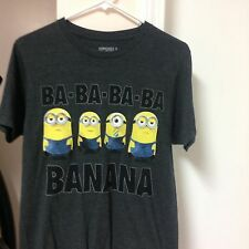 "MINIONS ""Keep Calm and Ride On"" Youth  T-Shirt Blue Size L"