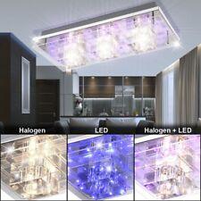 Wand Decken Leuchte Chrom Kristall Würfel Deko LED Wohn Ess Schlaf Zimmer Lampe