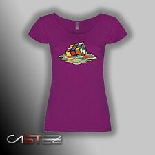 Camiseta mujer cubo rubik derretido basado big bang sheldon cooper (ENVIO 24/48h