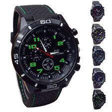 Fashion Men Military Watch Sport Silicone Strap Round Analog Quartz Wristwatch