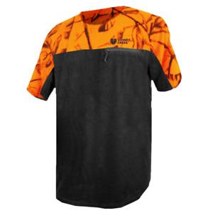 Stoney Creek Men's Micro+ Short Sleeve Shirt - Blaze/Black, Fleece Hunting Shirt