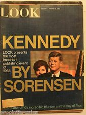 LOOK Magazine - 1965 August 10 ~ Sorenson on JFK Kennedy ~ Combine and SAVE!
