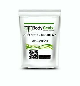 Quercetin & Bromelain Veg Capsules Immune Booster, Swollen Joints Bodygenix UK