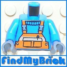 B056B Lego Minifigure Torso with Pen in Pocket & Safety Stripe Shirt Pattern NEW