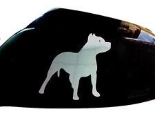 Pitbull Perro Auto Adhesivo ala Espejo Estilo calcomanías (juego De 2), cromo