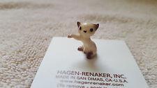 Hagen Renaker Cat Boxing Kitten Siamese Figurine Miniature Free Shipping 00008