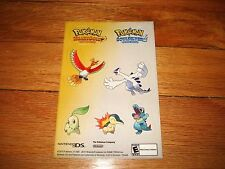 POKEMON HEARTGOLD SOULSILVER STICKER SHEET TOYS R US PROMO EVENT 2010 RARE GO