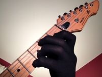 Guitar Glove, Bass Glove, Musician's Practice Glove -S-one- COLOR - BLACK
