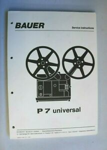 Bauer P7 Universal.,,,,16mm sound projector ....Service Manual