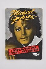 1984 Topps Micheal Jackson 3 Super Gloss Photo Cards Vintage Packaged Sealed New