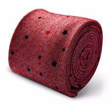 Frederick Thomas rose motif étoiles Mens 100% coton cravate ft3366