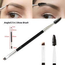 Make-Up Doppel Augenbrauen Bürste + Kamm Kosmetik Wimpern Holzgriff Bürsten Kamm