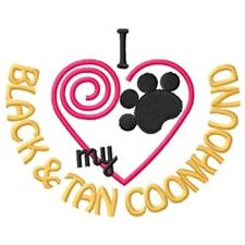 I Heart My Black and Tan Coonhound Ladies Short-Sleeved T-Shirt 1311-2