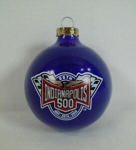 2002 Indianapolis 500 86th Running Event Logo Christmas Bulb Ornament Purple