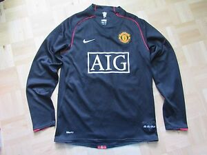 MANCHESTER UNITED long sleeve jersey shirt NIKE 2007-2008 trikot adult SIZE S