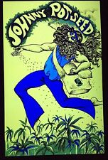 Johnny Potseed Psychedelic Art Blacklight Poster Woodstock Marijuana Pot Weed
