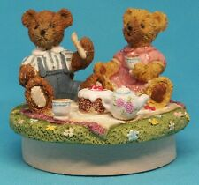 "Candle Topper Teddy Bear Picnic 3"" Cake Boy Girl Food No Burns Marks Resin"