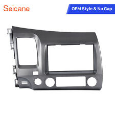 Car Radio Fascia Bezel Trim kit 2 Din Frame for HONDA Civic Sedan 07-11 in Dash