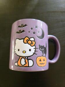 2021 Ceramic Purple Sanrio Hello Kitty Bats Halloween Cat Mug 20 oz. BRAND NEW