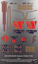 SUZUKI RG250 RG500 GAMMA WALTER WOLF DECAL GRAPHIC SET